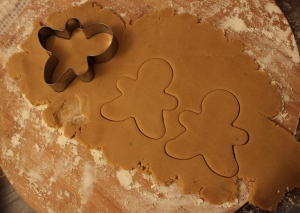 Step 5: Using a cookie cutter,cut out the shapes and place on a greased baking tray.