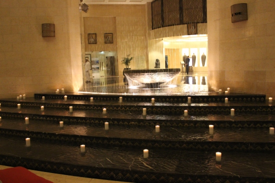 candle-lit steps at the Raffles.. beautiful!