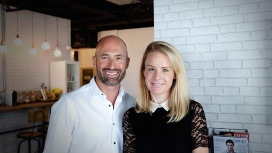 Louise Karim and David MacKenzie, Co-Founders of Mums@Work